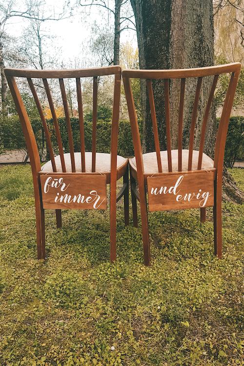 Holzschild Hochzeit